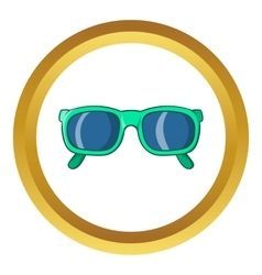 Retro hipster sunglasses icon vector