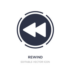 Rewind icon on white background simple element vector