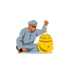 Rich man from the UAE Cartoon vector image