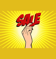 sale female hand vector image
