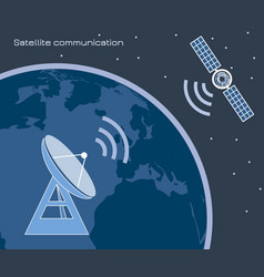 satellite communication 3 vector image
