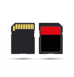 Sd card realistic image of memory card vector