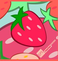 Seamless pattern watercolor strawberries vector
