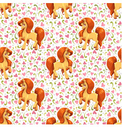 seamless pattern with cute cartoon young little vector image