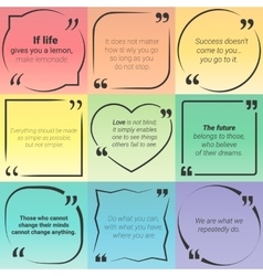 Set of citation text boxes frames and quotes vector image
