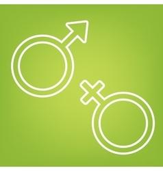 Sex symbol line icon vector