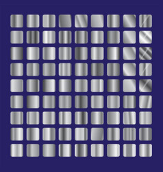 Silver squares glass collection background steel vector