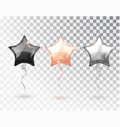 star balloon on transparent background party vector image