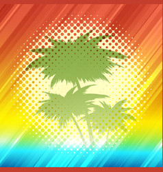 summer tropical background in retro style vector image