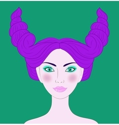 Taurus beautiful girl vector