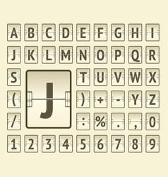 Terminal scoreboard regular font to display flight vector