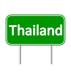 Thailand road sign vector