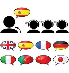 Translation and interpretation vector image