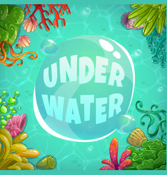 Underwater background with place for text vector