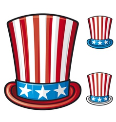 Usa top hat vector