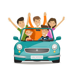 Vacation journey concept happy young people or vector