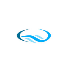 Water wave logo vector