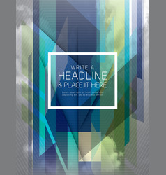 Abstract fractal futuristic Background design vector image