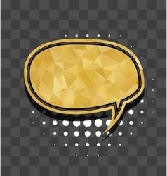 Gold round sparkle comic text bubble vector image vector image