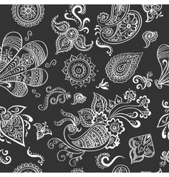 Indian vintage floral seamless vector image vector image