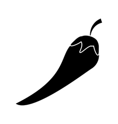 Isolated pepper vegetable design vector image