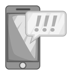 Mobile phone icon gray monochrome style vector image