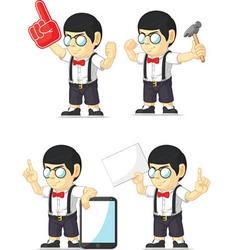 Nerd Boy Customizable Mascot 11 vector image vector image