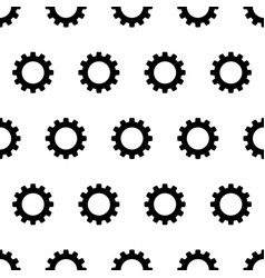 seamless pattern from black gear on a white vector image vector image