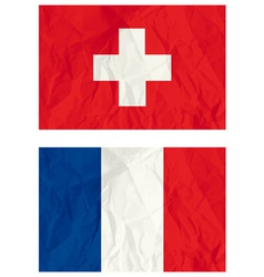 Switzerland and French flags vector image