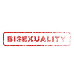 bisexuality rubber stamp vector image