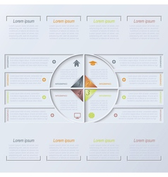 Circle infographic design template vector image vector image