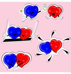 Couple Heart vector image vector image