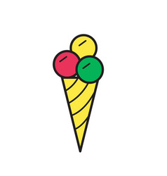 ice cream icon mono symbol vector image vector image