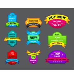 set of different labels with ribbons vector image vector image