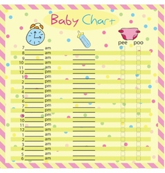 Baby chart for moms - colorful vector image