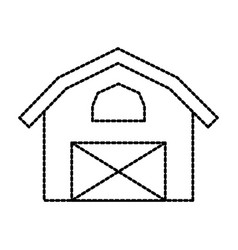 barn icon agriculture farm house building graphic vector image