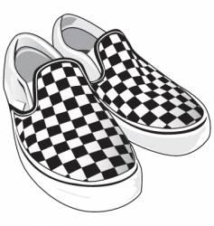 checkered vans vector image vector image