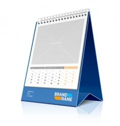 desktop calendar vector image vector image
