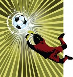 goalkeeper vector image