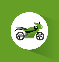 Green motorcycle transport vehicle image vector