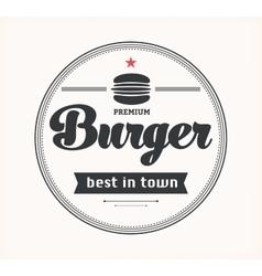 Logo with hamburger vector image vector image