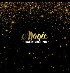 magic golden light effect shiny star burst vector image