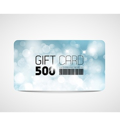 Modern gift card template vector image