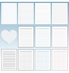 Set of notebook papers vector image vector image
