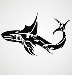 Shark Tattoo Design vector image vector image