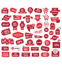 special offer 50 percent sale banners and coupons vector image
