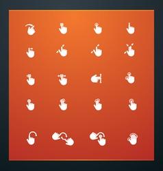 universal glyphs 17 phone symbols 6 vector image vector image