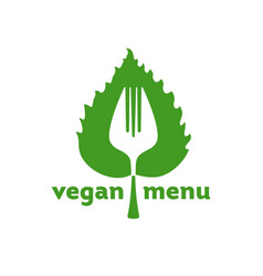 vegan menu icon vector image vector image