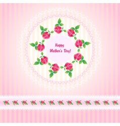 Beautiful roses post card for Mothers Day vector image vector image