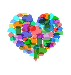 colorful speech bubble heart vector image